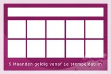 Achterkant stempelkaart Mandarin Spa